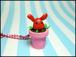 Bunnyberry Necklace by GrandmaThunderpants