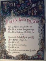Ten Commandments Finished by calligraphyartworks