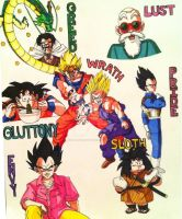 7 Deadly Sins of DBZ by brodandconfusd
