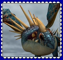 HTTYD Deadly Nadder/Stormfly Fan Stamp by MorkelebTheDragon