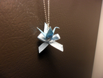 Paper Crane Necklace by StrigineSensibility