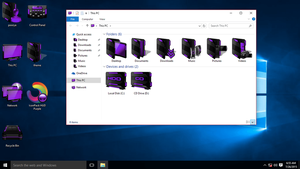 HUD Purple IconPack for Win10 by hamed1987s