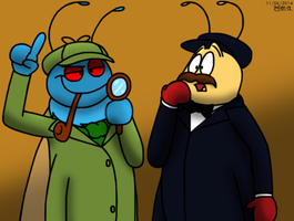 Flylock Holmes and Dr Bobson by BluebottleFlyer