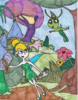 Tinkerbell Meets Celebi by Millie-the-Cat7