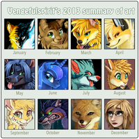 2013 Summary of Art by VengefulSpirits