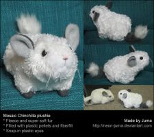 Mosaic Chinchilla plushie by Neon-Juma
