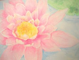 WATERCOLOUR - Water lily by jobo12354