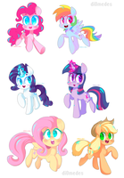 A bunch of ponies by buljong