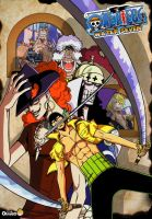 One Piece Collage: Lucha a bordo del Tren Maritimo by Mosquis
