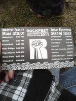Bands that were playing by MatchCense