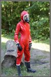Elena full in Hazmat by catsuitmodel