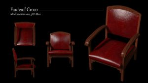 Fauteuil Croco by doudcolossus