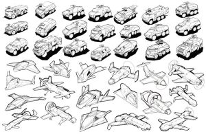 Vehicle Exploration Thumbnails by animationchambers