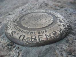 USGS Marker - Mt. Evans. by KlaxonLithology