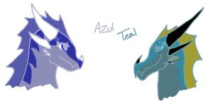 Torrid's Family: Azul and Teal by Elsie-dragon