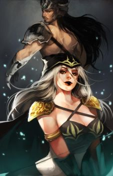 LoL: Ashe and Tryndamere by ippus