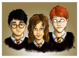 The Golden Trio by LadyShanana