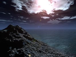 Sea at Night by yana-stock