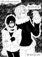 'I dunno how...' B and W ver by shirotenshi-chan