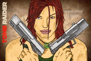 Tomb Raider Notebook Cover by sasori2693