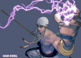 God Enel-Eneru Paint by Majin-Luffy