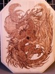Woodburning - Pearl Guardian - Christmas Gift by Stepher17