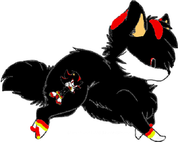 Shadow The Hedgehog Wolf Adopt CLOSED by Prettyxmouse