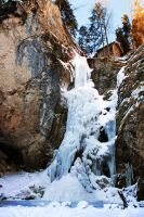 frozen waterfall by CaveCanem42