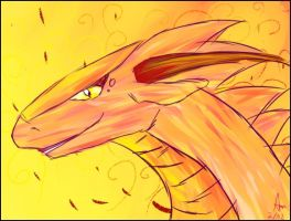 Sunset dragon by Dolphinfreakiii