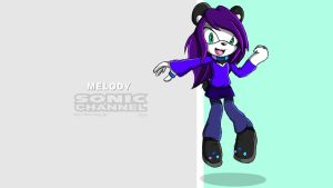 Melody Sonic Channel Wallpaper by nakklesart
