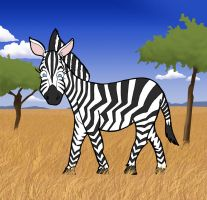 Zoe the zebra... by Gregatron