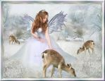 Christmas Angel amomg roe deers 2012 by nudagimo