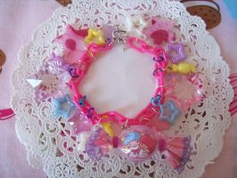 Little Twin Stars Candy Charm Bracelet by lessthan3chrissy