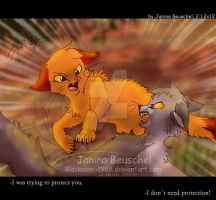 Fire and Ice -When Friends were fighting by JB-Pawstep