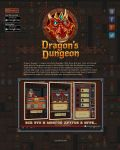 Site Design for Dragon's Dungeon game by Vadich