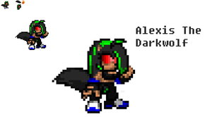 Alexis The Dark Wolf Sprite by FrostBurned-Soul