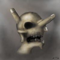 Finger Skull by jayanam