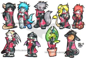 .:Akatsuki half-animals:. by Shivita
