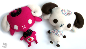 Two Little Rams by Mazzlebee