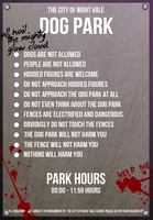 Night Vale - Dog Park Sign by CROW-detective