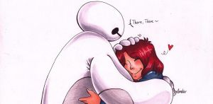 Baymax and I by leneko