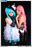 Miku and Luka by PrinceLelouchLowell