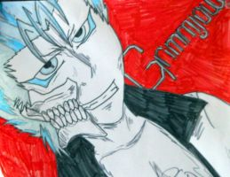 Smirking Grimmjow by Readmeabook21