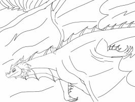 Time Dragons-Riding the Waves lineart by ShardianofWhiteFire