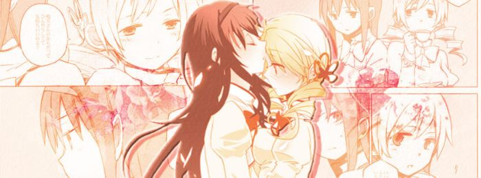 Facebook cover - Homura x Mami by MaryuiT