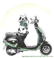 Moped Cow by donteatthefish