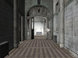 interior abandoned asylum 01 by Ecathe