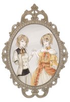 [E.C.] Waiter and Rilliane by Matryoshka-Ruth