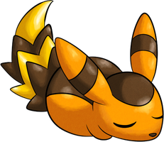 Snircoon the Sleepy Pokemon. by BritishStarr