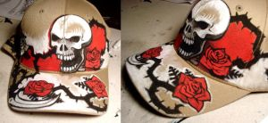 Skull and Roses Cap by nedashi